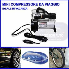 Mini Compressore Portatile Professionale Auto Moto Bici Canotti Palloni 12 volt