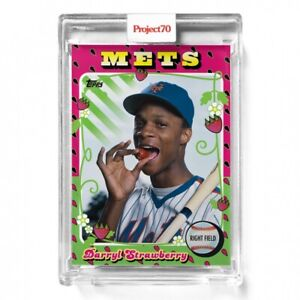 2021 TOPPS PROJECT 70 1975 #267 DARRYL STRAWBERRY BY CLAW MONEY NY NEW YORK METS