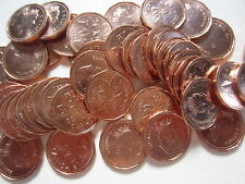 Roll of 1991 Canada Small Cents (UNC RED 50 Coins) (RJ99)