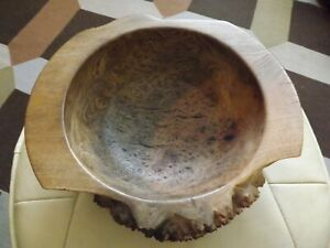 Beautiful hand crafted Large Burr Oak Bowl Rustic Table Centrepiece Fruit eggs