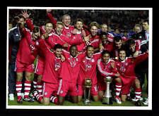 Bayern München Mannschaftskarte Weltpokalsieger 2001