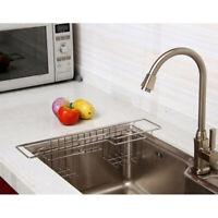 Stainless Steel Kitchen Sink Caddy Organizer for Soap Brush Sponge Holder