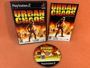 Urban Chaos: Riot Response Sony PlayStation 2 PS2 Game Black Label Complete!