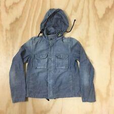 J.Crew Chambray Utility Hidden Hood Jacket Women's 0 Zip/Snap Front Style #37907