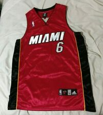 Miami Heat Lebron James Red Black White Stitched Adidas Jersey Sz 52 ( XL )