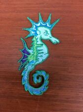 Sassy  Seahorse Embroidered Iron On Applique Patch