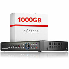 4 Channel DVR System 1TB Hard Drive Installed Full HD Resolution Alarm Inputs