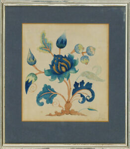 1930 Watercolour - Tree Of Life Flowers