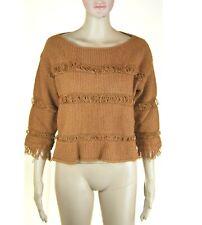 Pullover Maglia Donna KAOS Marrone I884 Tg S M veste grande