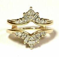 1/2ct Solitaire Diamond Enhancer Wrap Engagement Ring 14K Yellow Gold Finish