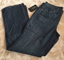NWT Access Womens Blue Denim Relaxed Easy Fit Stretch Straight Leg Jeans Size 10