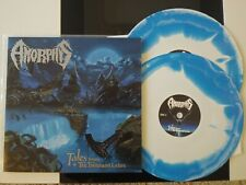 AMORPHIS Tales From The Thousand Lakes LP BLUE white SPLATTER VINYL record