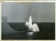 PHOTO Douglas Aircraft Compagny fusée polaris A 2 missile essai dans la mer