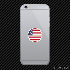 Round American Flag Cell Phone Sticker Mobile Die Cut USA America stars