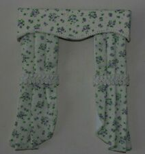 12th scale dolls house curtains in tiny lilac  flower print