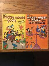 2x Walt Disney Mickey Mouse and Goofy Explore Energy/Energy Conservation G/VG