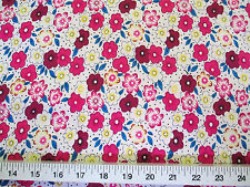 Discount Fabric Challis Rayon Pink, Blue and Yellow Floral 2 yds @ $6.99 J202