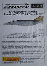 Xtradecal 1/72 X72289 RAF Phantom FG.1/FGR.2 Stencils Pt 2 decal set