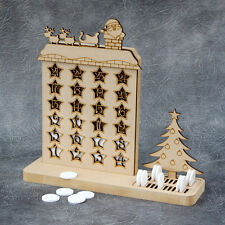 Christmas Countdown Advent Calendar - Freestanding Craft Sign and Shapes