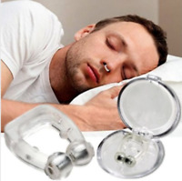 2 X Anti Snore Nose Clip Micro Sleep Apnea Device Stop Snoring Magnets Silicone