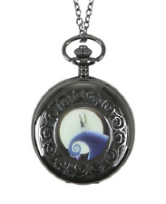 Disney The Nightmare Before Christmas Jack Sally Halloween Pocket Watch Necklace