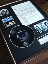 "NIRVANA KURT COBAIN 7"" RECORD SINGLE + ORIGINAL HANDWRITTEN LYRICS MONTAGE"