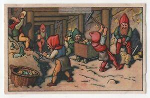 German Heinzelmannchen Elves Work In A Mine With Picks 1920sTrade Ad Card