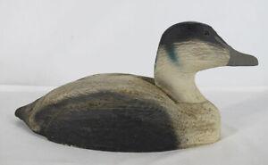 Vintage Herters Factory Drake Eider Sea Duck Decoy Unstamped yqz