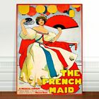 "Stunning Vintage Musical Poster Art ~ CANVAS PRINT 8x12"" ~ The French Maid"
