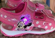 Disney Junior Minnie Mouse Girl's Light-Up Fashion Sandals Shoes Size 9
