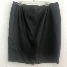 Ann Taylor Pleather Faux Leather Skirt Petite 16 Lined Black