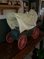 Vintage Marx Johnny West Covered Wagon w/ Harness and firepit