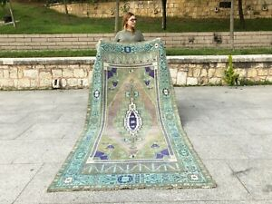 ANATOLIAN Turkish Antique NATURAL Lowpile Distressed Oushak Tribal UNIQUE RUG
