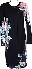 ST.JOHN Womens 2Pc. Knit Black Pink Blue Topper Long Jacket & Skirt Sz 6