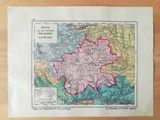 Oberamt Schorndorf Bauser Hand-Atlas KARTE von 1885 Adelberg Beutelsbach Hebsack