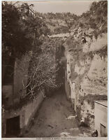 Italia Contorni Di Napoli Grotta Di Puzzuoli Vintage Albumina Ca 1875
