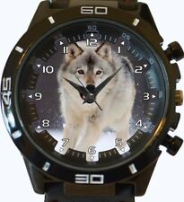 Arctic White Hunter Wolf Trendy Sports Style Unisex Gift Wrist Watch
