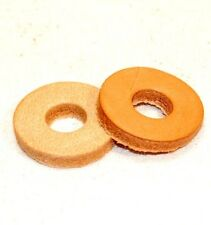 "K-TEK PSC BOOM POLE 3/8"" GENUINE  LEATHER INSOLATION CUSHIONING  WASHERS (2)"