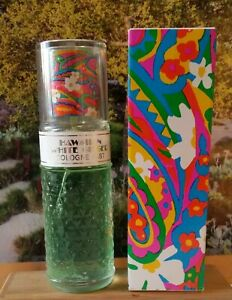 Vintage Hawaiian White Ginger Cologne, Avon.  2 fl oz perfume Spray Full w/ box