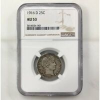 1916 D Barber Quarter NGC AU53 ***Rev Tye's Coin Stache*** #4001142