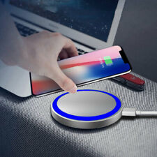 LED Indicator Fast Charging Universal  Wireless Charger Pad For iPhone X XS