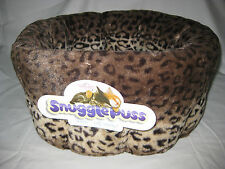 Cat Bed - SnugglePuss Deep Sided Oval - Leopard Print SMALL Size