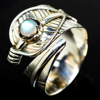 Rainbow Moonstone 925 Sterling Silver Ring Size 8 Adjustable Jewelry R17853F