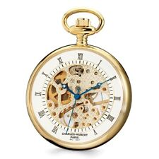 CHARLES HUBERT GOLD FINISH BRASS OPEN FACE POCKET WATCH