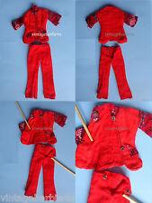 Vintage Jacket & Pants Red Velour / Barbie Doll Babs Bild Lilli Jamie Stacey sz