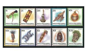 Papua New Guinea 1994 Artifacts Set of 10 Stamps All Mint Unhinged (6-14)