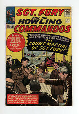SGT. FURY And His HOWLING COMMANDOS #7 - GREAT JACK KIRBY COVER & ART - 1964