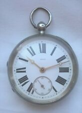 Big 57mm Silver Fusee Pocket Watch (Chester 1887) – Working Order