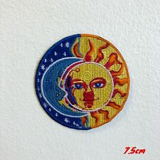 Blue Moon and Yellow Sun Eclipse Valentino ROSI Iron on Patch Applique #1832