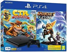 SONY PLAYSTATION 4 PS4 1TB HDR CONSOLE + CRASH TEAM RACING CTR + RATCHET & CLANK